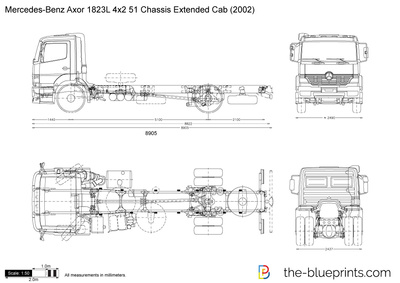 Mercedes-Benz Axor 1823L 4x2 51 Chassis Extended Cab