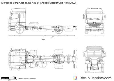 Mercedes-Benz Axor 1823L 4x2 51 Chassis Sleeper Cab High (2002)