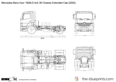Mercedes-Benz Axor 1828LS 4x2 36 Chassis Extended Cab
