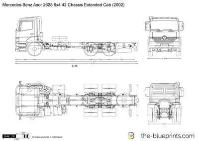 Mercedes-Benz Axor 2628 6x4 42 Chassis Extended Cab