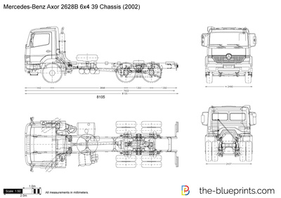 Mercedes-Benz Axor 2628B 6x4 39 Chassis