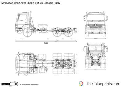 Mercedes-Benz Axor 2628K 6x4 36 Chassis