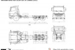Mercedes-Benz Axor 2628K 6x4 39 Chassis
