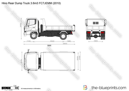 Hino Rear Dump Truck 3.6m3 FC7JEMM