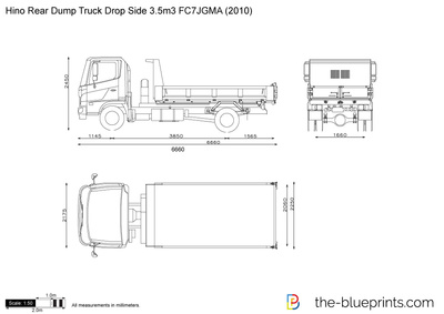 Hino Rear Dump Truck Drop Side 3.5m3 FC7JGMA
