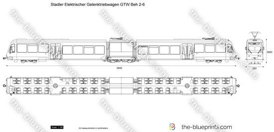 Stadler Elektrischer Gelenktriebwagen GTW Beh 2-6