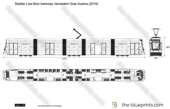 Stadler Low-floor tramway Variobahn Graz Austria