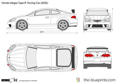 Honda integra type r touring car vector drawing honda integra type r touring car malvernweather Images