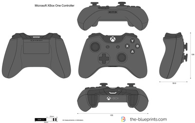 Microsoft Xbox One Controller Vector Drawing