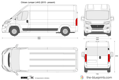 citroen jumper l4h2 vector drawing. Black Bedroom Furniture Sets. Home Design Ideas
