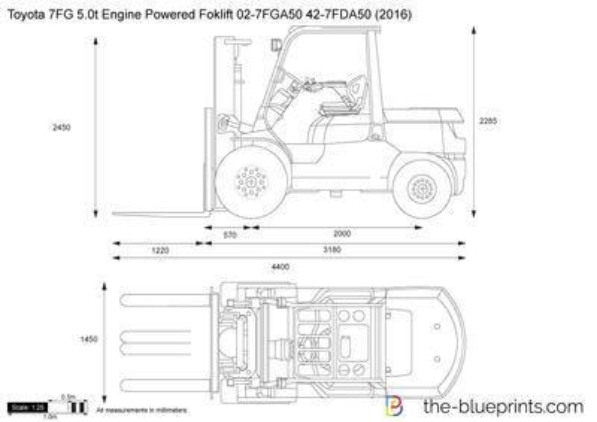 Toyota 7FG 5.0t Engine Powered Foklift 02-7FGA50 42-7FDA50