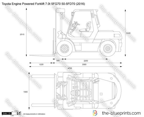 Toyota Engine Powered Forklift 7.0t 5FG70 50-5FD70