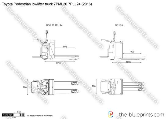 Toyota Pedestrian lowlifter truck 7PML20 7PLL24