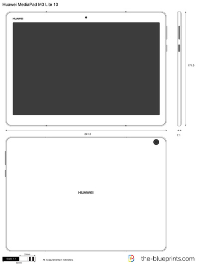 huawei mediapad m3 lite 10 vector drawing. Black Bedroom Furniture Sets. Home Design Ideas
