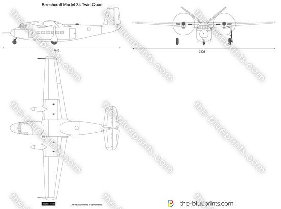 Beechcraft Model 34 Twin-Quad
