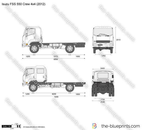 Isuzu FSS 550 Crew 4x4
