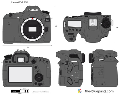 Canon eos 80d vector drawing vector drawing preview malvernweather Choice Image