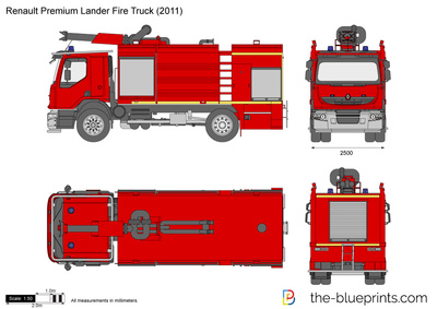 Renault premium lander fire truck vector drawing renault premium lander fire truck malvernweather Choice Image