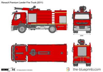 Renault Premium Lander Fire Truck