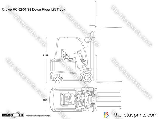 Crown FC 5200 Sit-Down Rider Lift Truck