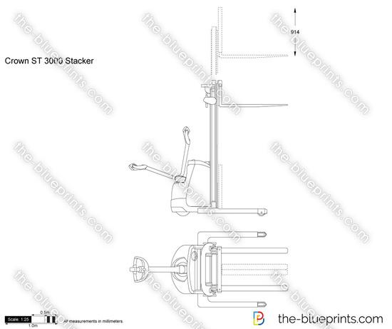 Crown ST 3000 Stacker