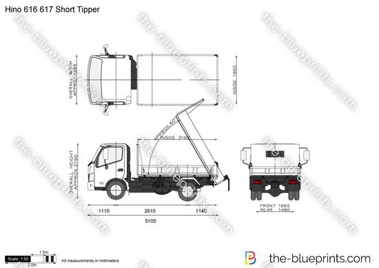 Hino 616 617 Short Tipper
