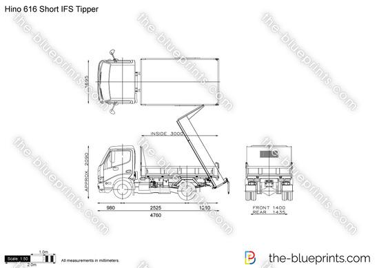 Hino 616 Short IFS Tipper