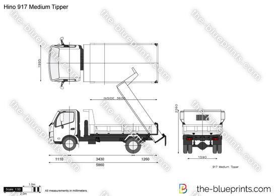 Hino 917 Medium Tipper