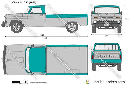 Chevrolet C20 vector drawing