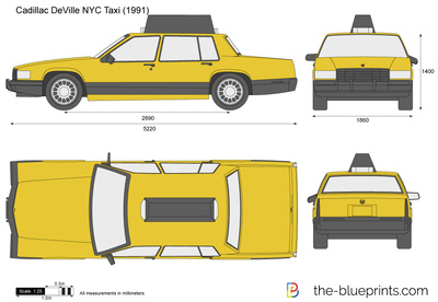 Cadillac DeVille NYC Taxi
