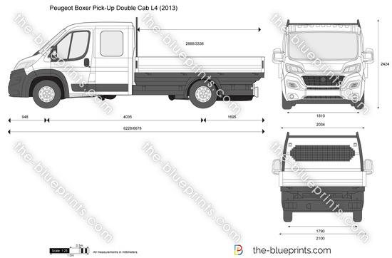 Peugeot Boxer Pick-Up Double Cab L4