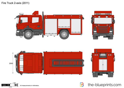 Fire Truck 2-axis