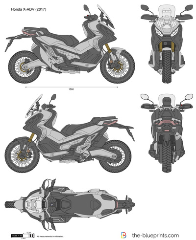 Honda X-ADV vector drawing