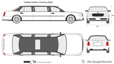 Cadillac Deville Limousine vector drawing