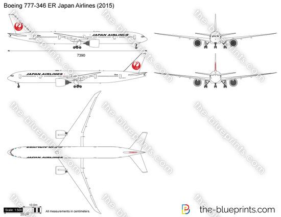 Boeing 777-346 ER Japan Airlines