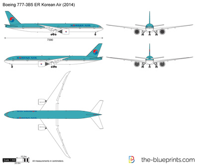 Boeing 777-3B5 ER Korean Air