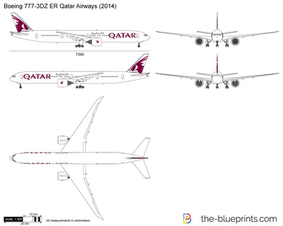 Boeing 777-3DZ ER Qatar Airways