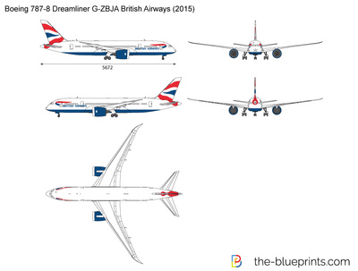 Boeing 787-8 Dreamliner G-ZBJA British Airways