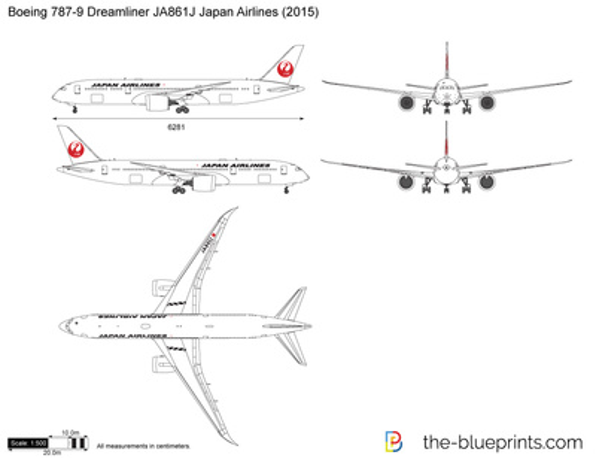 Boeing 787-9 Dreamliner JA861J Japan Airlines