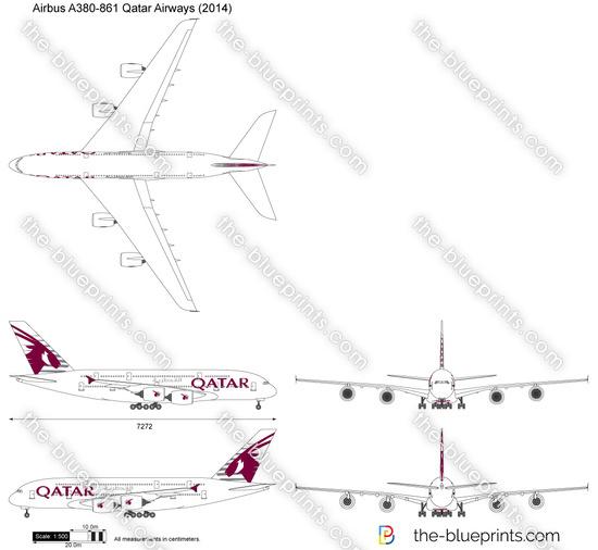 Airbus A380-861 Qatar Airways
