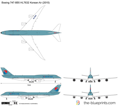 Boeing 747-8B5 HL7632 Korean Air