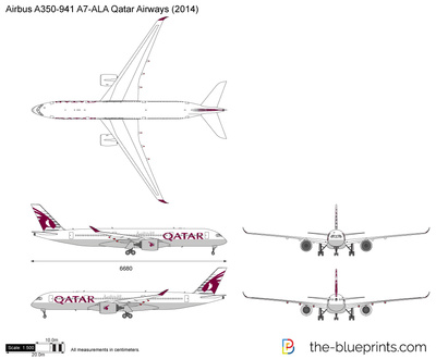 Airbus A350-941 A7-ALA Qatar Airways