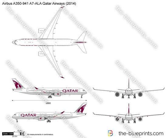 Airbus A350-941 A7-ALA Qatar Airways