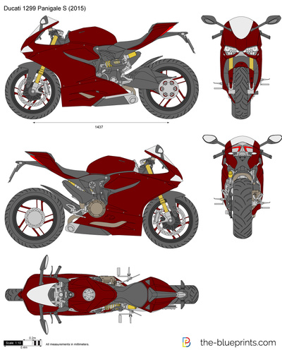 Ducati 1299 Panigale S Vector Drawing