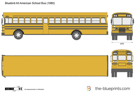 Bluebird All American School Bus