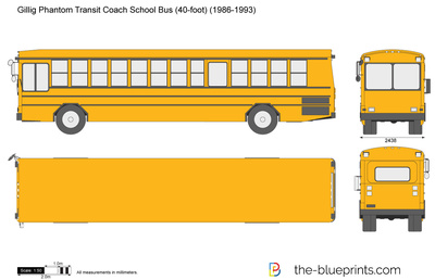 Gillig Phantom Transit Coach School Bus (40-foot)