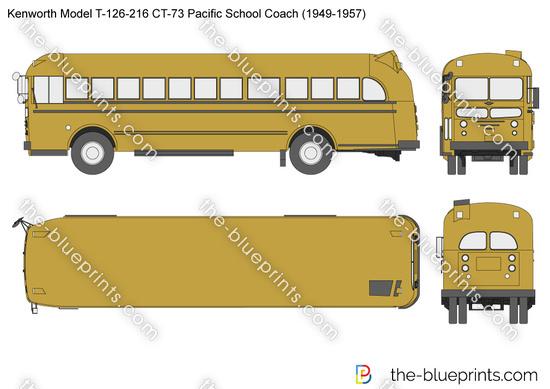 Kenworth Model T-126-216 CT-73 Pacific School Coach