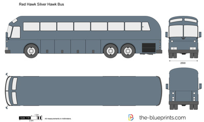 Red Hawk Silver Hawk Bus