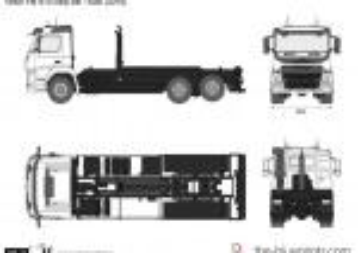Volvo FM 410 Skip Bin Truck (2010)