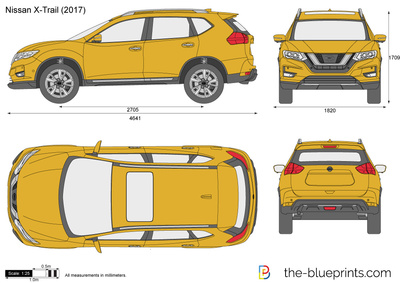 nissan x trail vector drawing. Black Bedroom Furniture Sets. Home Design Ideas